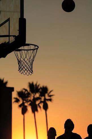 Premium Photographic Print Sunset Scenes Venice Beach Southern California Usa Outdoo In 2020 Outdoor Basketball Court Basketball Photography Basketball Background
