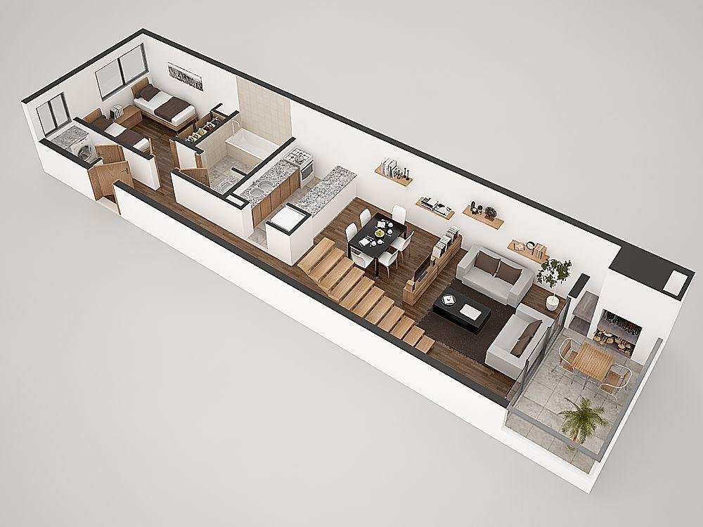 Planos duplex 2 dormitorios buscar con google - Duplex de diseno ...