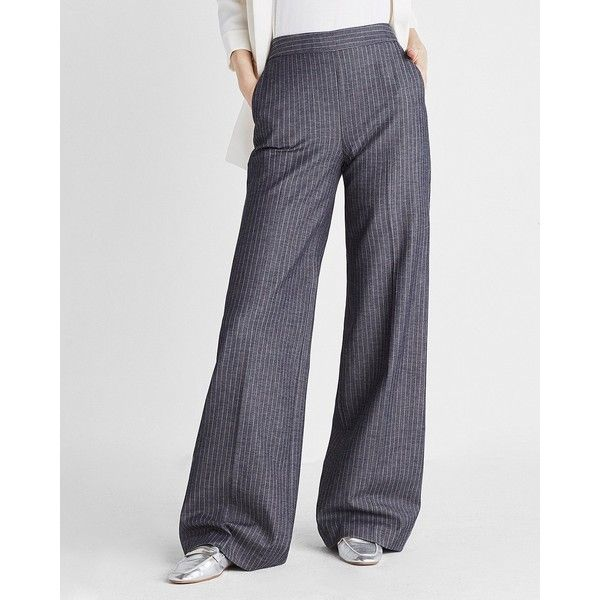 high waisted trousers - Blue Egrey xwabTtI13