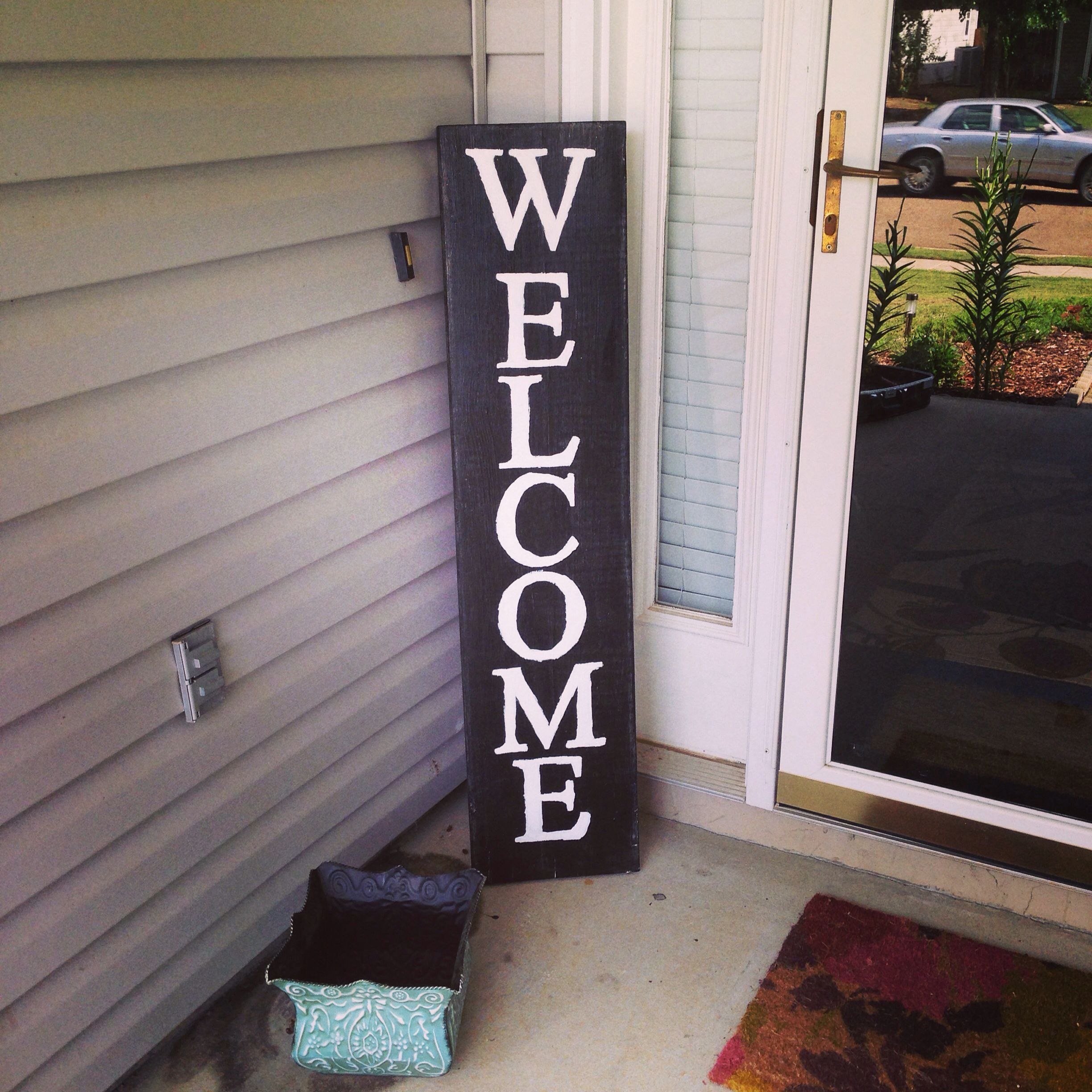 Diy Front Porch: DIY Welcome Sign Front Porch