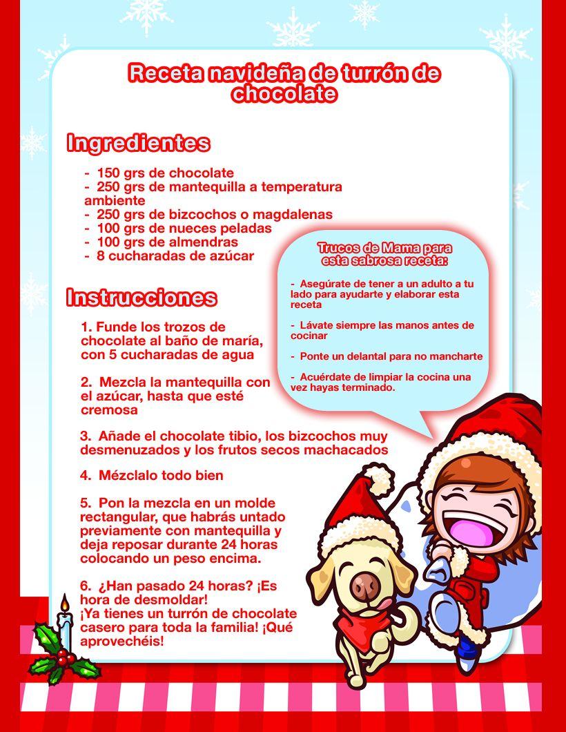 Receta navide a de turr n de chocolate para ni os - Cocina navidena espanola ...