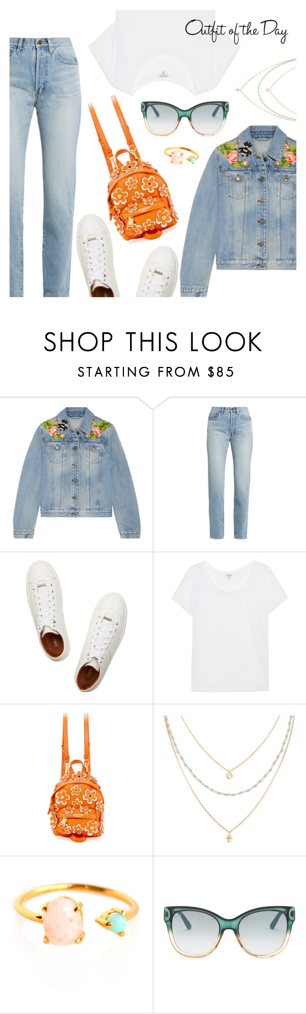 """""""Casual"""" by dressedbyrose ❤ liked on Polyvore featuring Gucci, Yves Saint Laurent, Jimmy Choo, Splendid, Moschino, Petit Bateau, casual and polyvoreeditorial"""