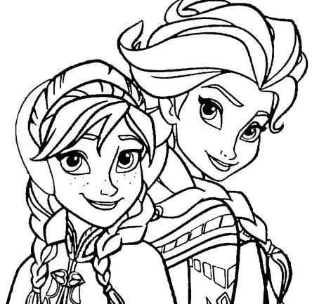 Free Download Elsa And Anna Coloring Pages For Page Frozen
