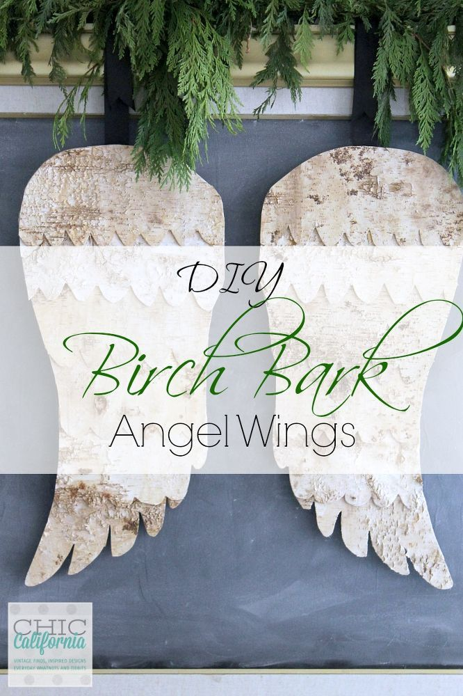 DIY ideas DIY Birch Bark Angel Wings