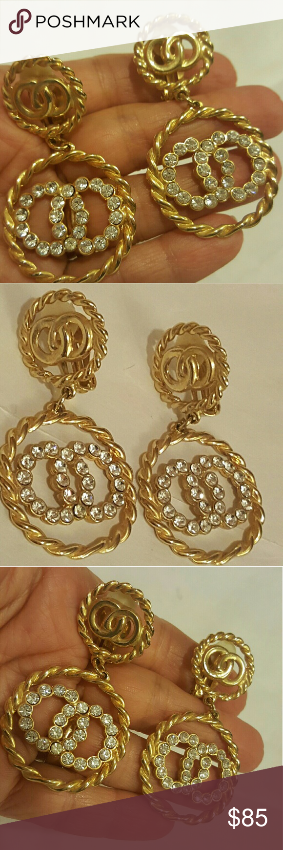 Large chandelier earrings favorite chandelier clip on earrings wear large chandelier earrings favorite chandelier clip on earrings wear it with your favorite chanel bag cc arubaitofo Gallery