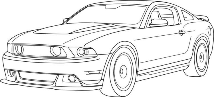 Mustang Car Coloring Pages Printable Race Car Coloring Pages Mustang Drawing Cars Coloring Pages