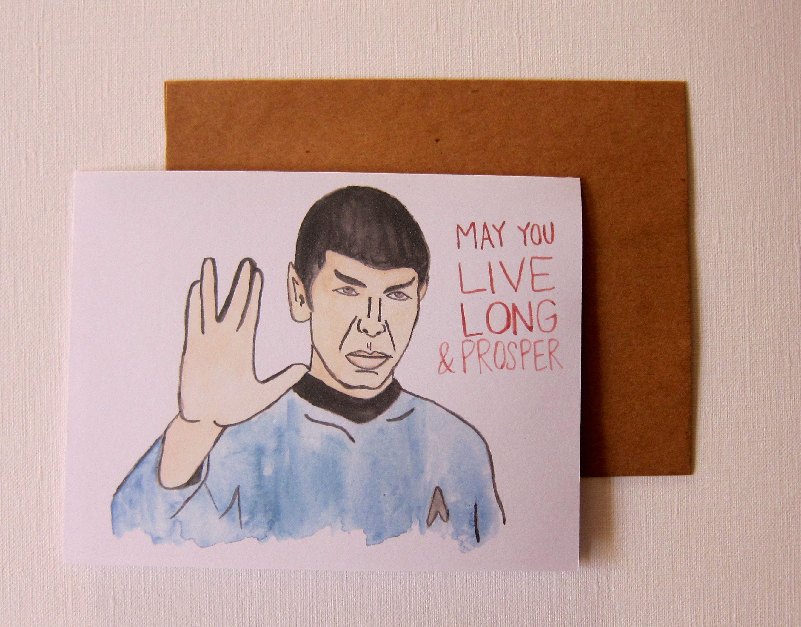 Star Trek Spock Birthday Card Star Trek Birthday Birthday Cards Cards