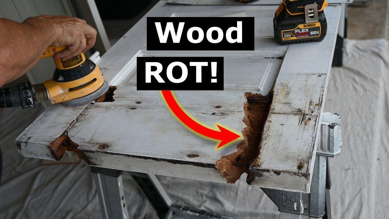How to repair rotted wood door with bondo wood filler