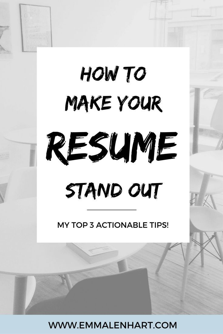 How To Make A Resume Stand Out How To Make A Resume Stand Out From Others And Get Job Interviews .