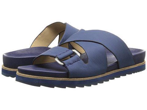Womens Sandals Calvin Klein Jeans Valeri Indigo Leather