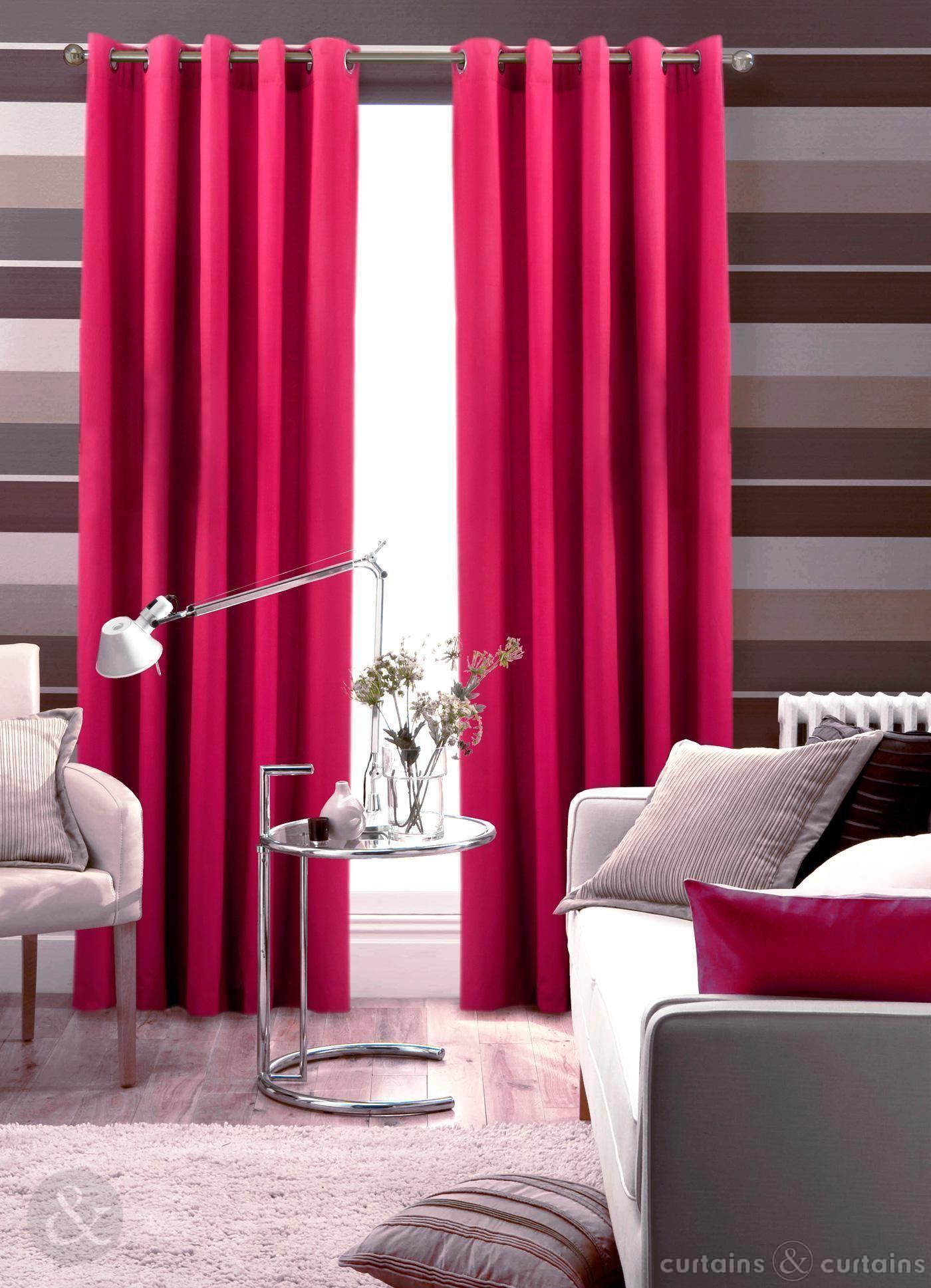 vorhänge wohnzimmer rosa