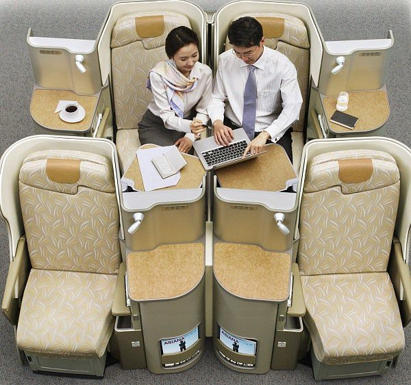 Asiana Business Smartium Premium Business Class Airplane