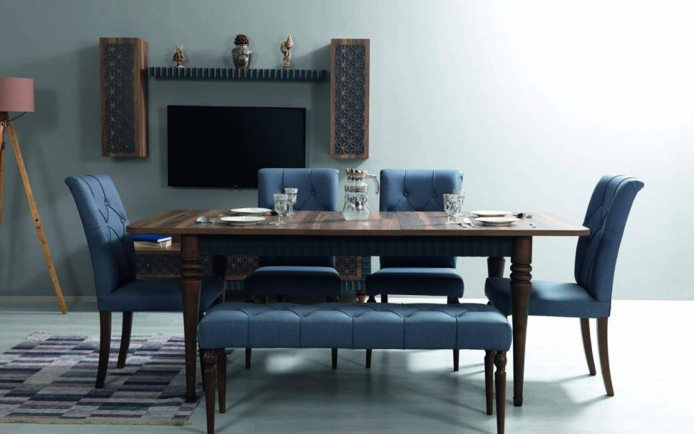 Sipstar Modern Blue Dining Room Furniture Set In 2020 Dining Room Furniture Modern Dining Room Furniture Sets Blue Dining Room Furniture #turkey #living #room #furniture