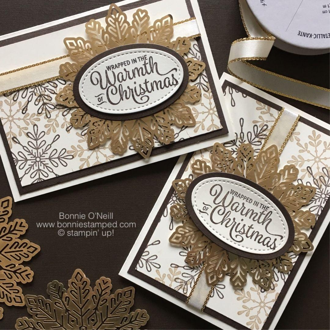Holiday stampastack foil snowflake card sample