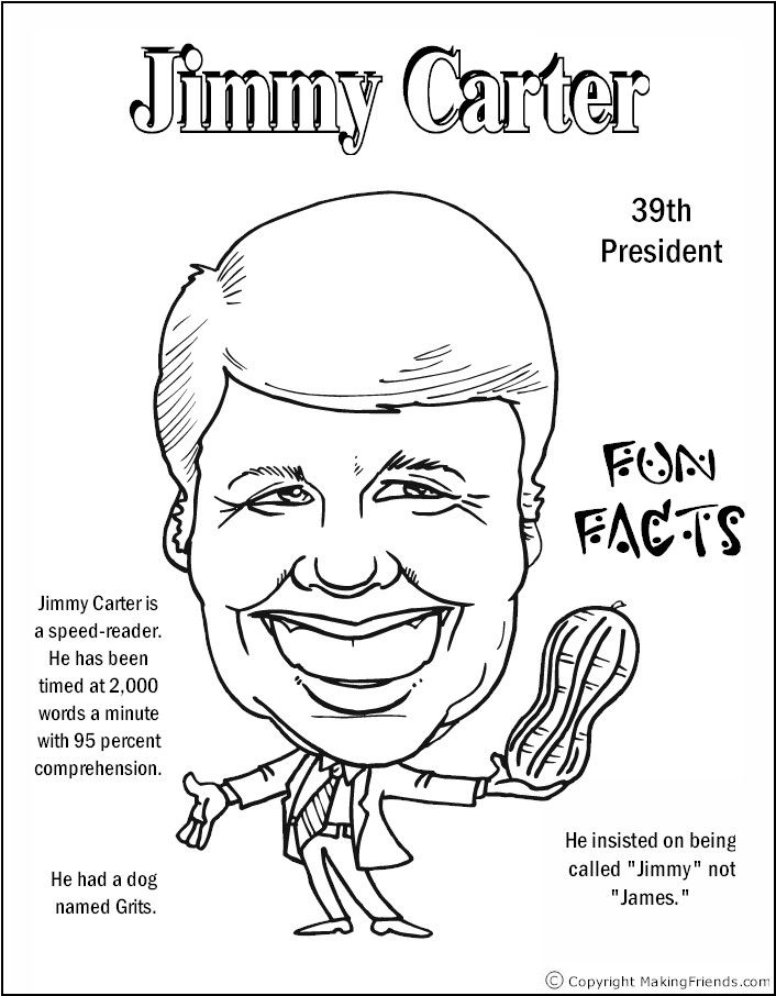 jimmy carter coloring page