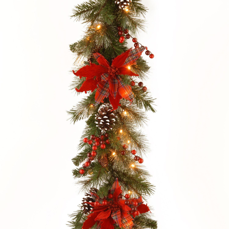 National Tree Co. Decorative PreLit Tartan Plaid Garland