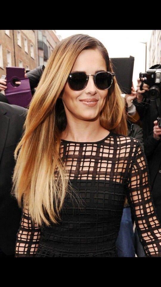 Cheryl Cole's blonde hairdo