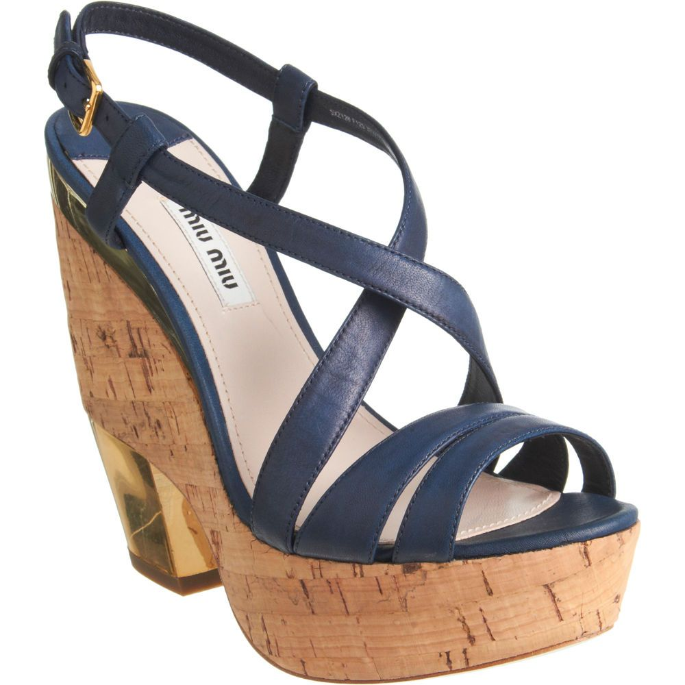 abd3e41c65a4 Miu Miu Cutout Wedge Sandal via Barneys