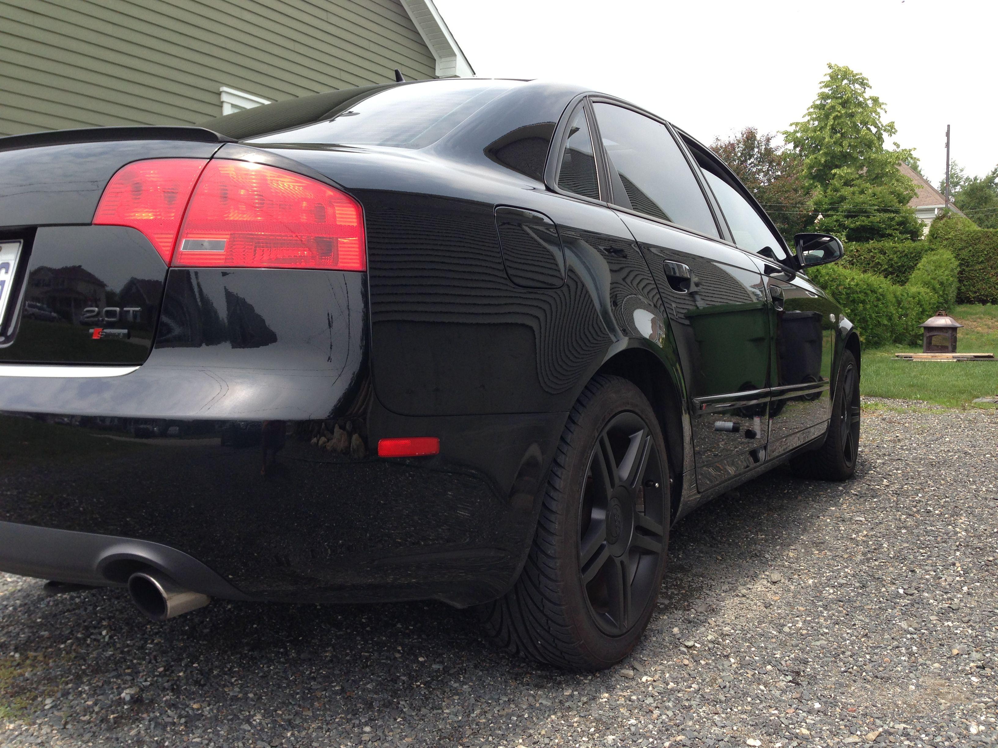 Audi a4 b7 plastidip wheels