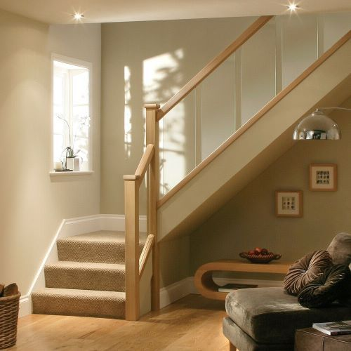 Best Full Oak And Glass Banister Landing Set Including Newel 400 x 300