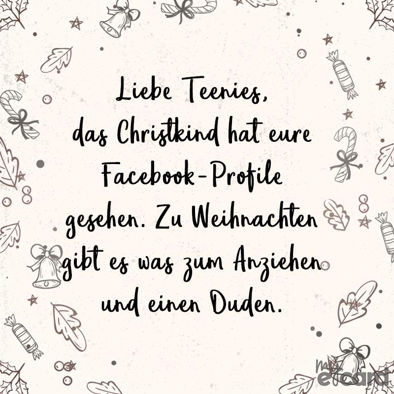 Weihnachten Duden.Liebe Teenies Das Christkind Hat Eure Facebook Profile Gesehen Zu