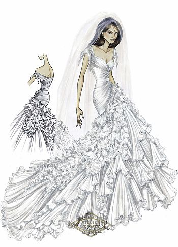 Fashion Designer Sketchpad Fashion Croquis Next In Fashion The Fashion Student Resource Wedding Dress Sketches Dress Sketches Fashion Art Illustration