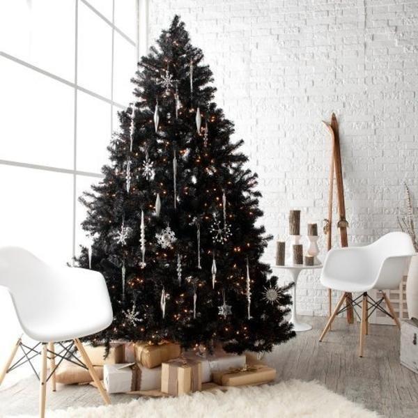 black christmas tree ideas - Google Search