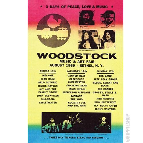 Woodstock original line up poster.