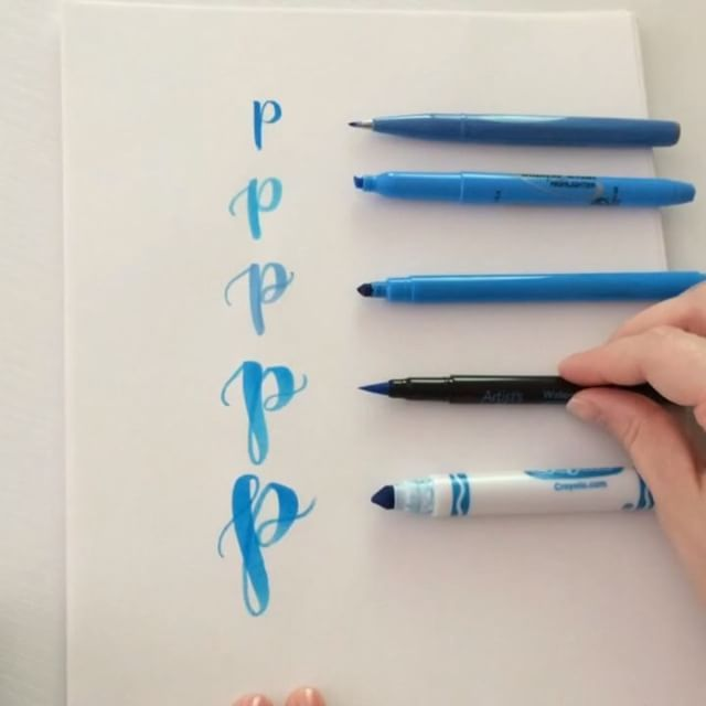 Worked On The Letter P Today Wanted To Show Different Pens And