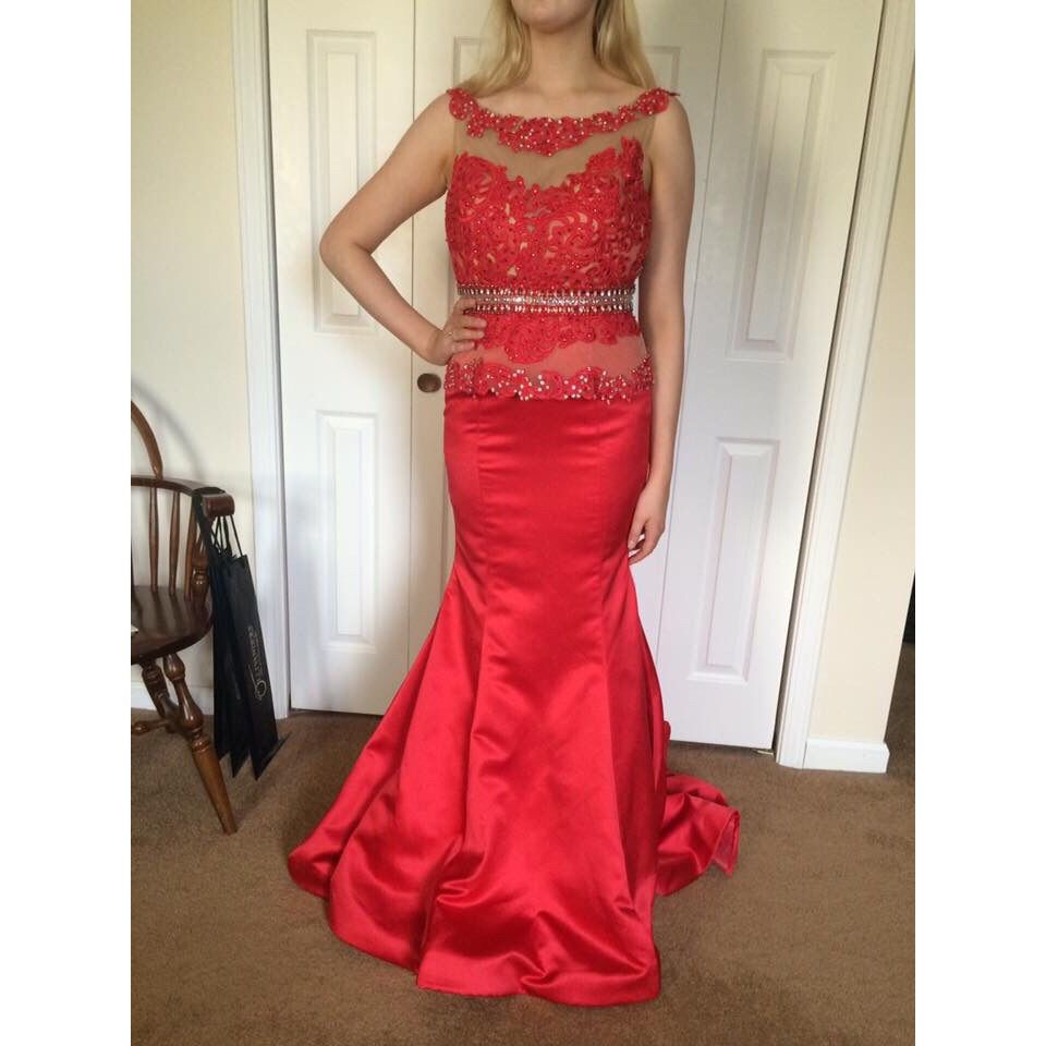 Sherri hill red mermaid products pinterest products
