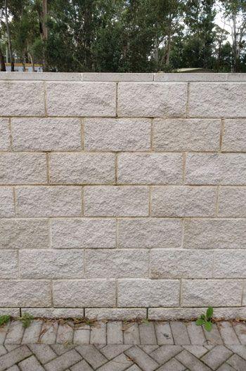 White Opal Splitface Block Wall Block Wall In 2019