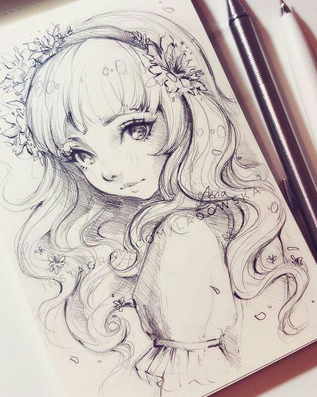 Anime Black And White Art Gift Drawing Anime Drawings Anime Art Beautiful