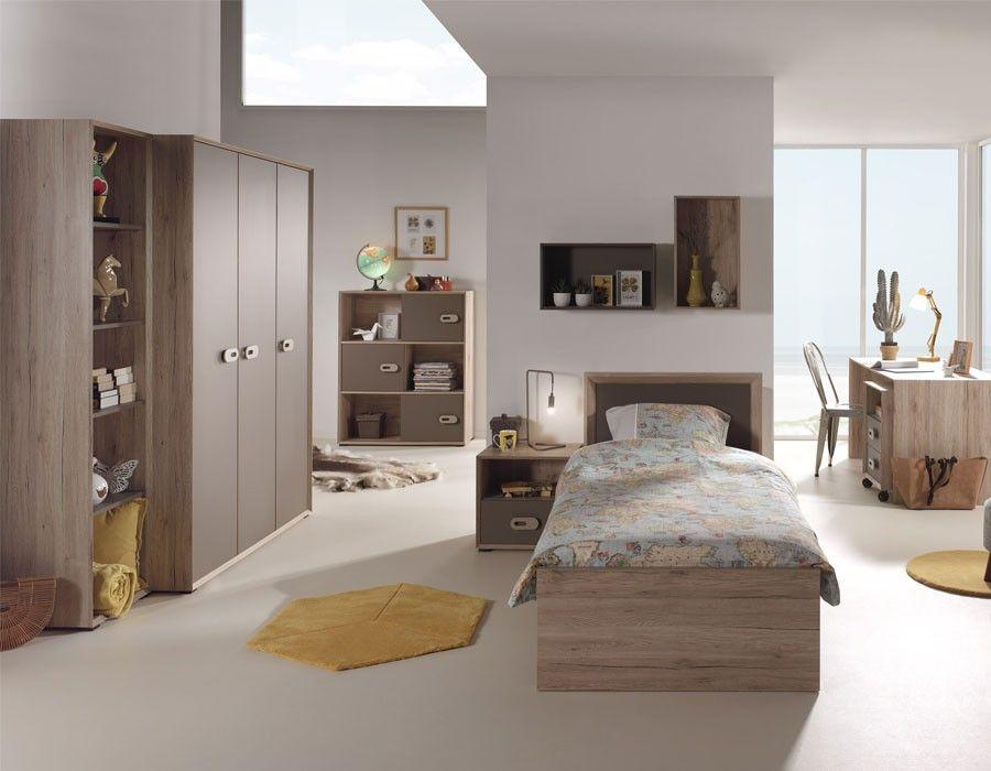 Chambre Enfant Moderne Couleur Bois Marron Nolwen Bed Furniture Design Bedroom Sets Furniture
