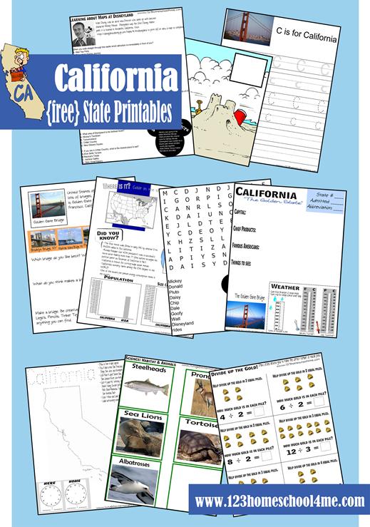 Free california state worksheet pack pinterest worksheets free state printables altavistaventures Image collections