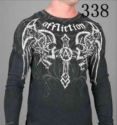 Men Affliction Long Sleeve Shirt-020