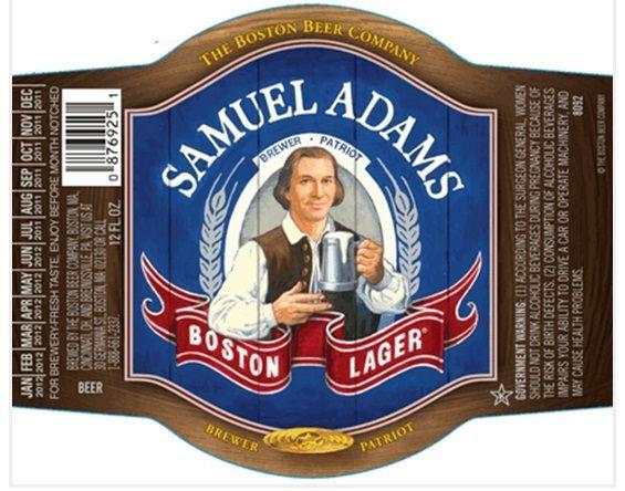 Samuel Adams beer label LIcraftbeer New Samuel Adams Boston - beer label