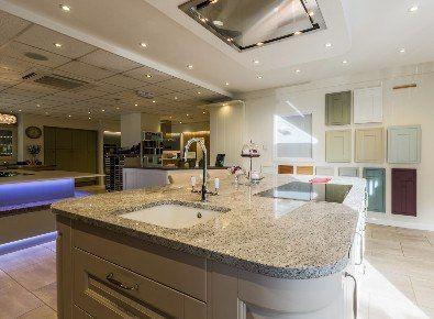 High Quality ATLANTIS KITCHENS PROJECT: Handleless Gloss Grey Kitchen   Silestone  Worktops   Matching Silestone Sink   Quooker Boiling Water Tap   Bosch  Applianu2026