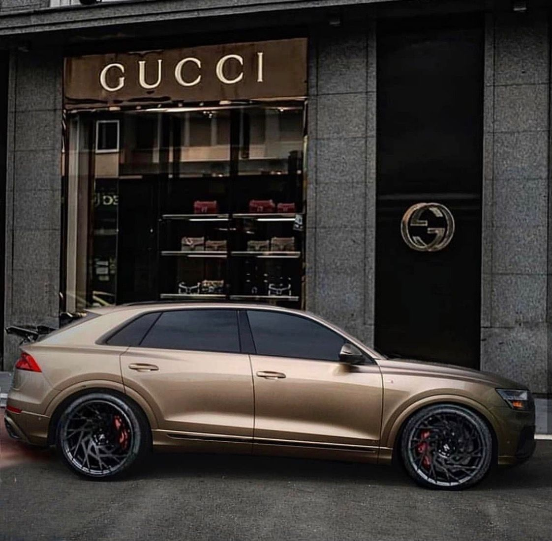 Best 30 Luxury Porsche Sport Cars Collections: Audi Q8 Gold Plush Gucci Fitted