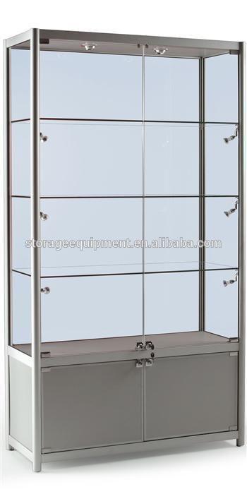 Visor de vidro com fechadura armários / exposição a porta de vidro armário de madeira
