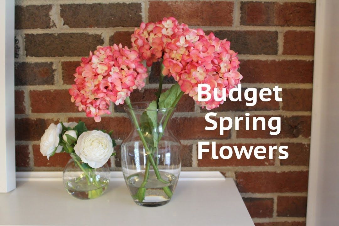 Cheap Spring Decor Idea Acrylic Water Flower Arrangement