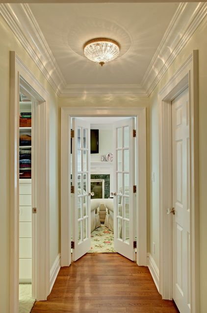 8 Foot Corridor Flanked By Walk In Closets French Doors Continue