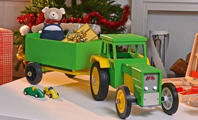 comment construire un tracteur jouet et sa benne en bois tracteurs construire et boire. Black Bedroom Furniture Sets. Home Design Ideas