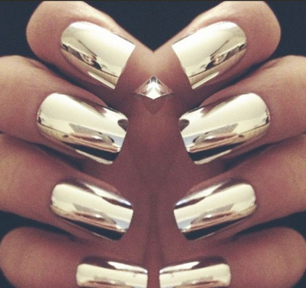 Chrome Nails With Nail Rock Metallic Wraps