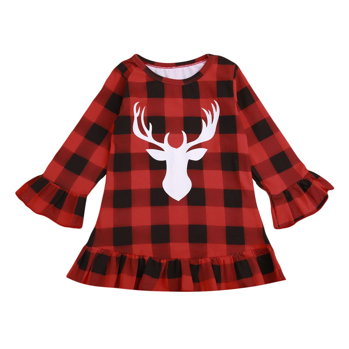 Helen pretty kids baby girl clothes christmas plaid long sleeve