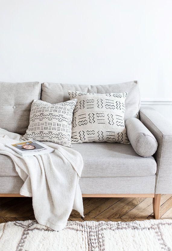 Katia White Cactus Silk Pillow Cream Pillow Neutral