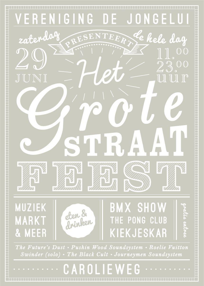 Nieuw straatfeest-poster | Buurtfeest OU-89
