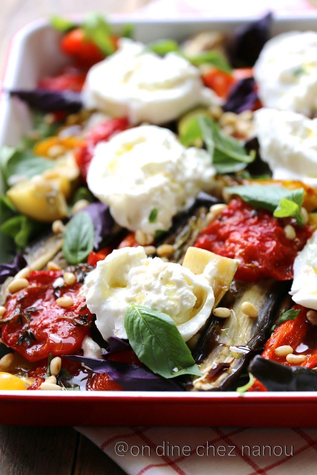 légumes d'été au four à la burrata | lègumes | pinterest | légumes