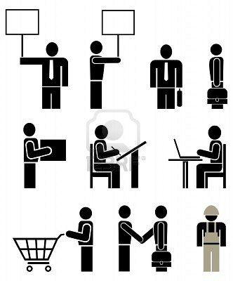 36c440cc3cd8f Personas de diferentes profesiones - conjunto de pictogramas de vector  estilizados. Unidades. Aislado