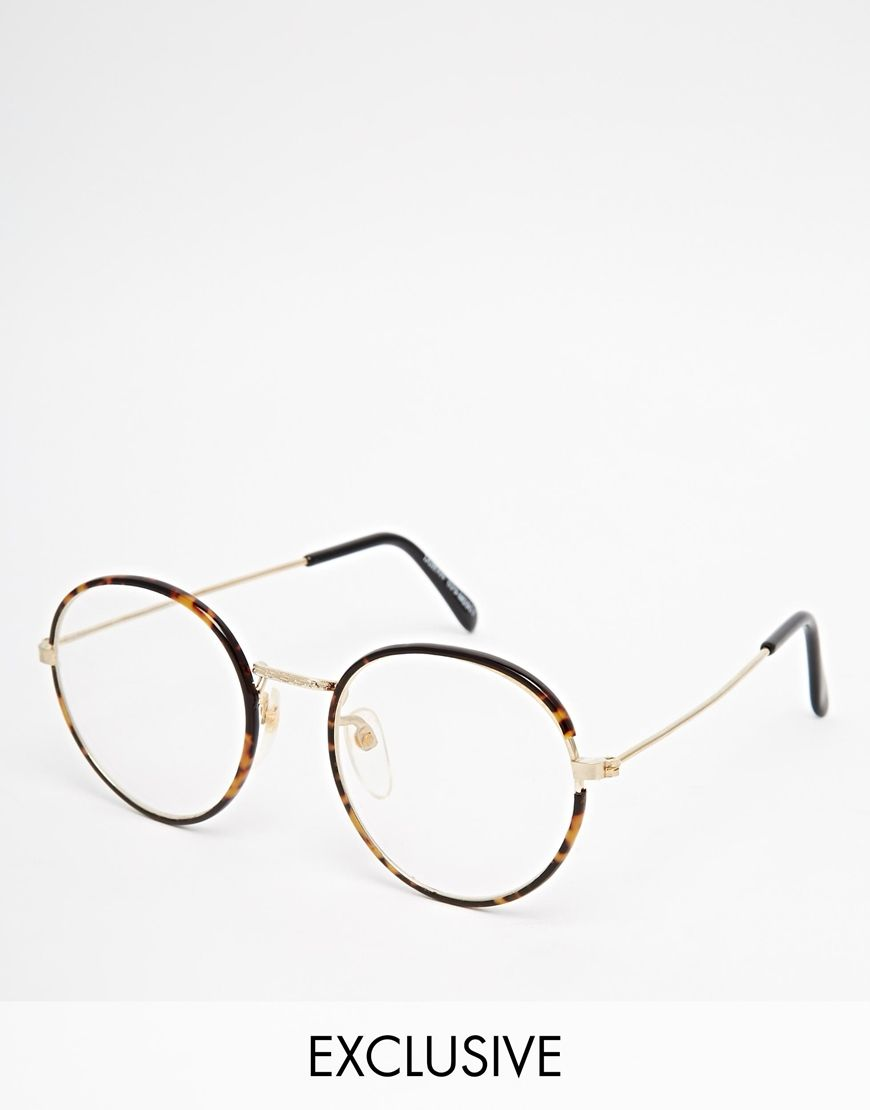 aae8eb659a4 I ll be getting my geek-chic on with theses Reclaimed Vintage Clear Lens  Glasses!