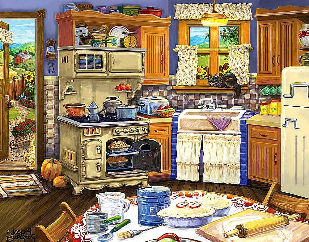 Joseph burgess for Kitchen paintings pictures